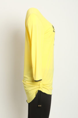Shirt (yellow & black) with 3/4 sleeve