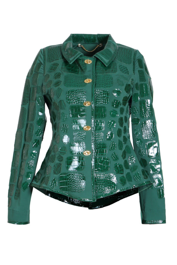 Croco jacket, emerald