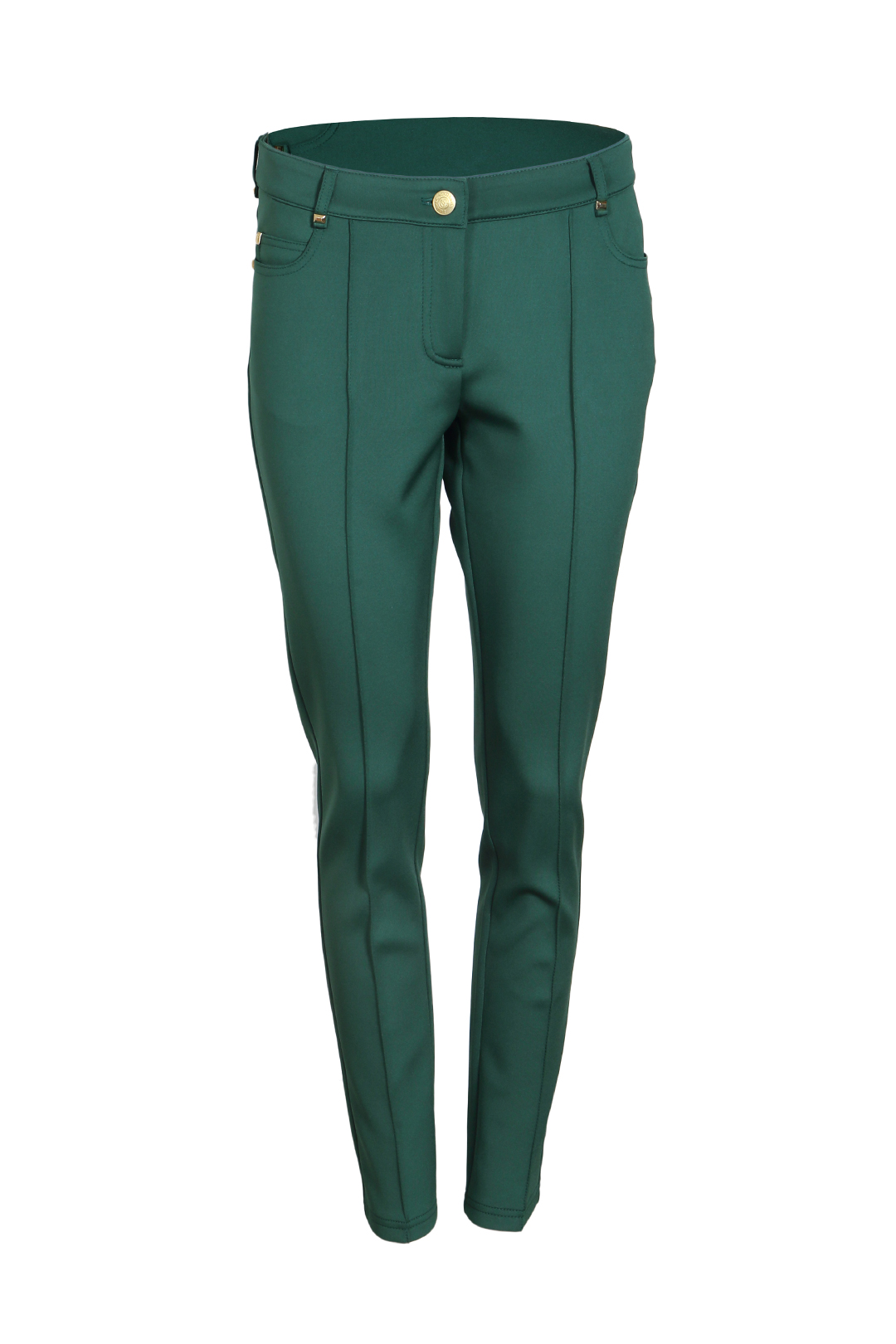 Jersey Jeans, emerald with gold studs