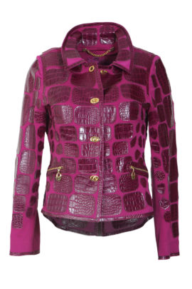 Croco jacket, purple, single jersey