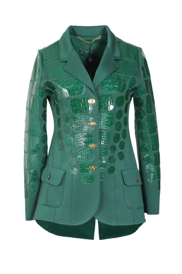 Blazer emerald with croco patches