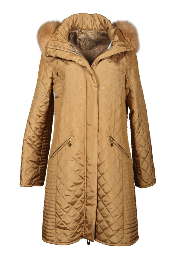 Cult parka, polar fox dressing, microfibre