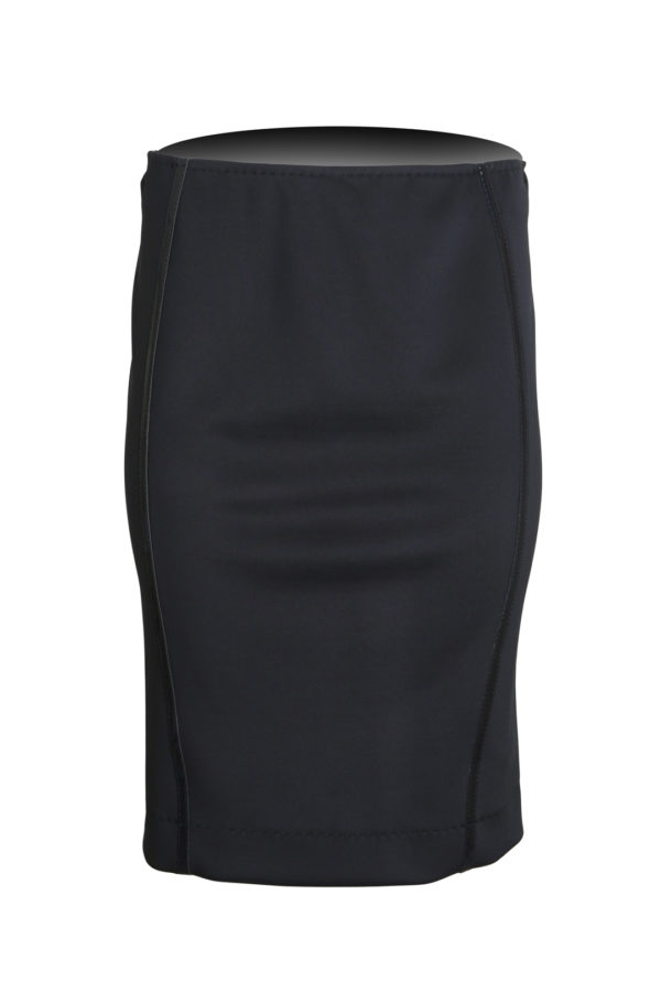 Skirt black jersey with vinyl