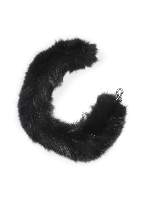 Fur accessories black dyed