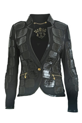 Croco jacket classic, black, single jersey