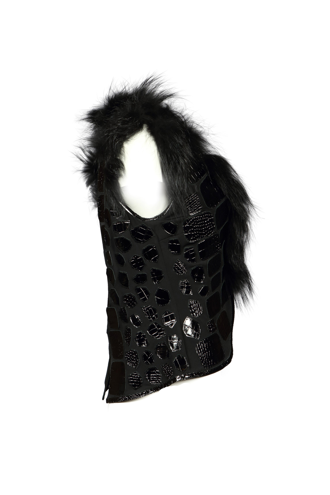 Fox vest with crocopatches
