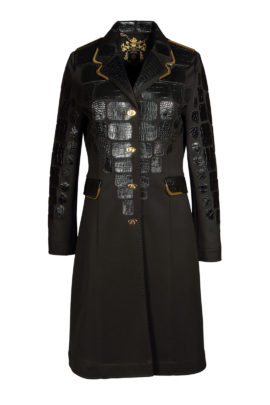 Coat croco double jersey