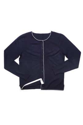 Cardigan viscose navy