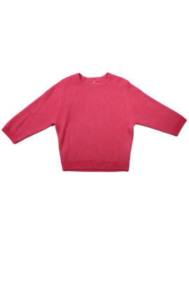 Pullover further 7/8 arm cashmere/cotton