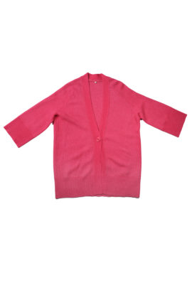 V-Cardigan long 7/8 arm cashmere/cotton