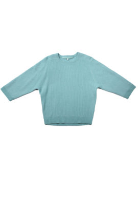 Pullover further 7/8 arm cashmere/cotton mint