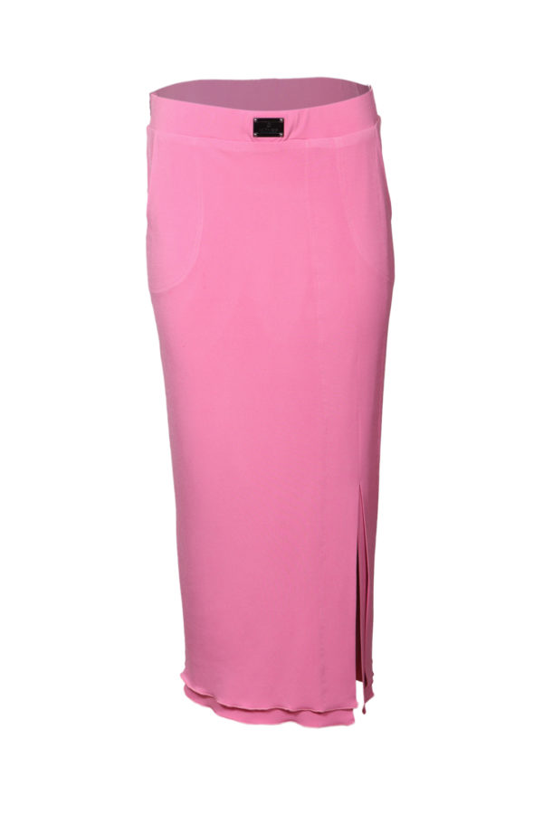 Evening skirt with pockets and side slit