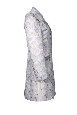 Longblazer, brocade with grey-blue contrasts
