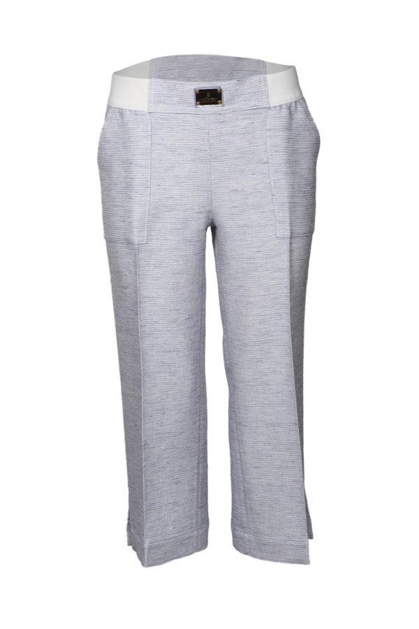 Palazzo trousers grey-blue