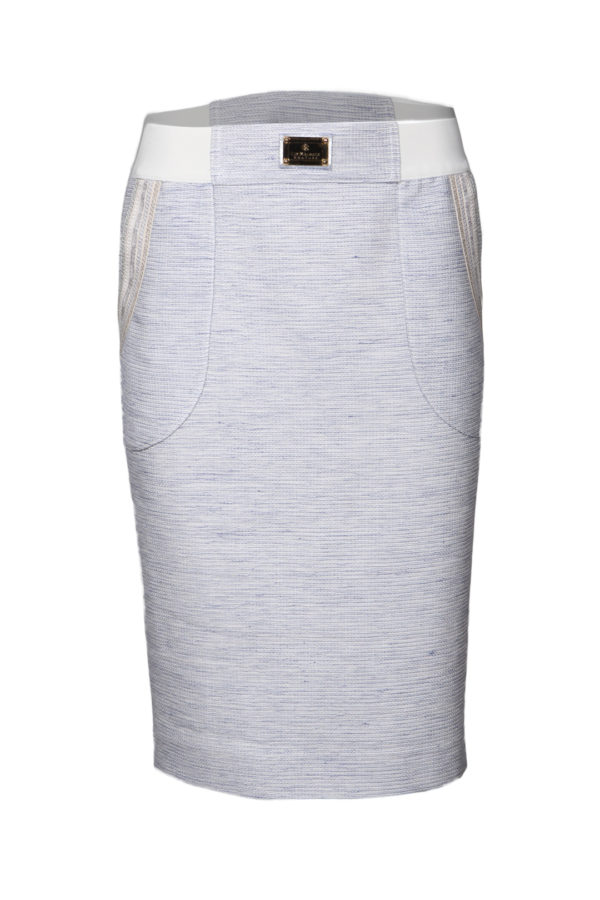 Skirt with embroidered yoke