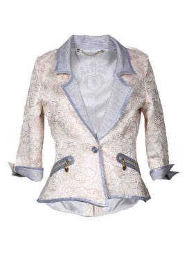 Couture jacket with embroidered yoke