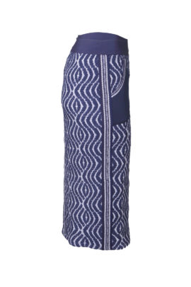 Maxi skirt with embroidered yoke