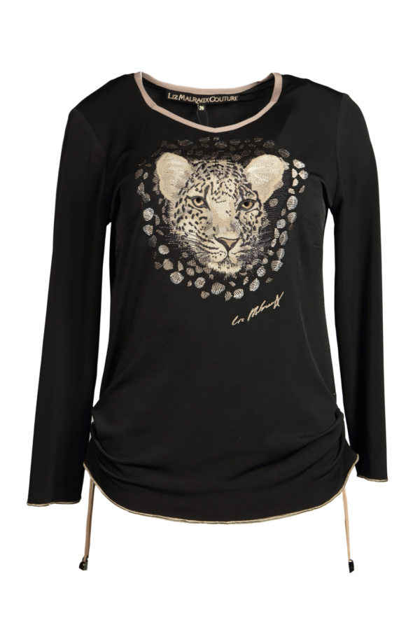 Shirt with wild embroidery long sleeve