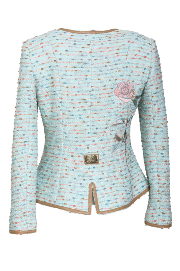 Bouclé jacket with baccarat embroidery
