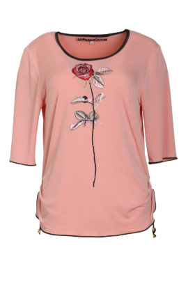 Shirt with baccara embroidery