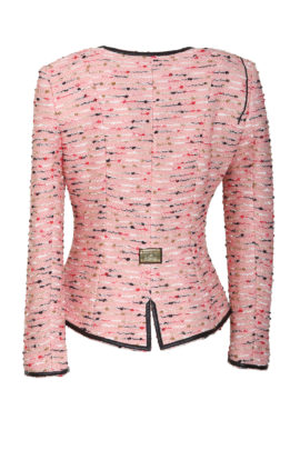 Bouclé jacket with baccara embroidery