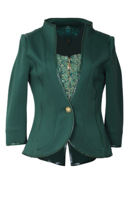 Couture jacket with vest