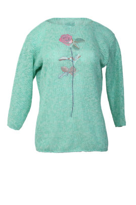 Jumper with baccara embroidery