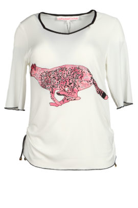 Shirt with cheetah-embroidery