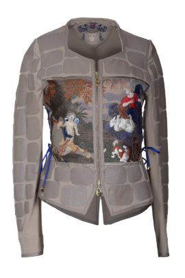 Jacket with Aphrodite-embroidery