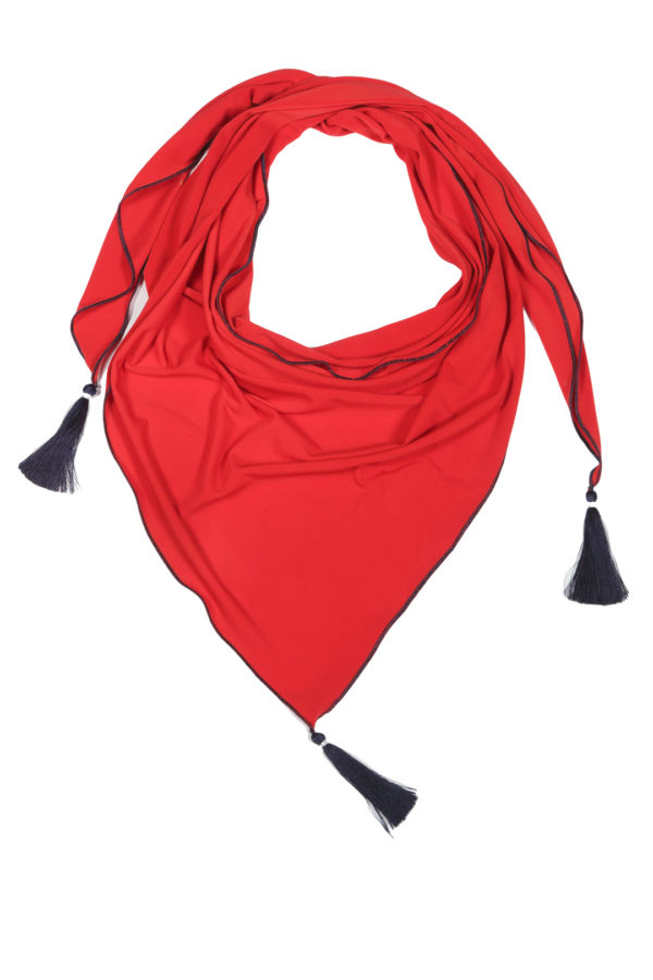 Scarf with 3 Madeira tassels