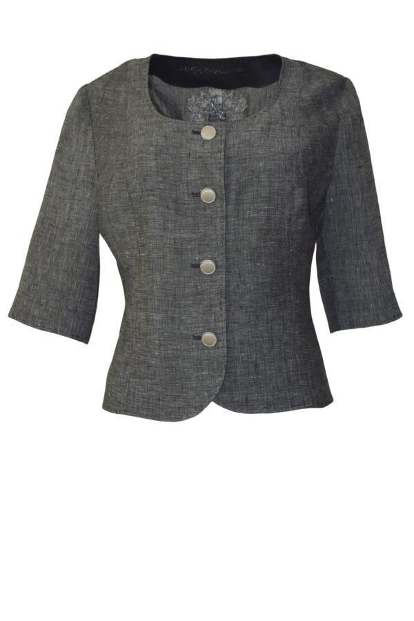 Jacket linen graphite-melange