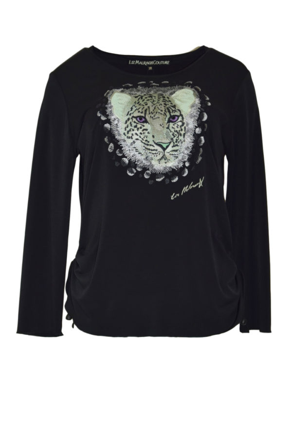 Shirt with wilderness embroidery