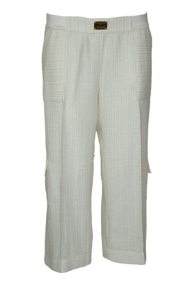 Palazzo trousers with lurex