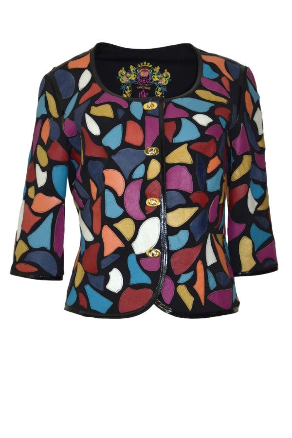 Jacket mini nappa patches free-style