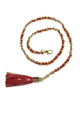 Chain belt with tassel