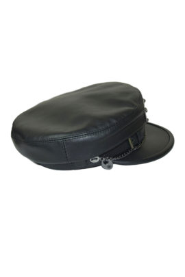 Leather cap with LMC Logo