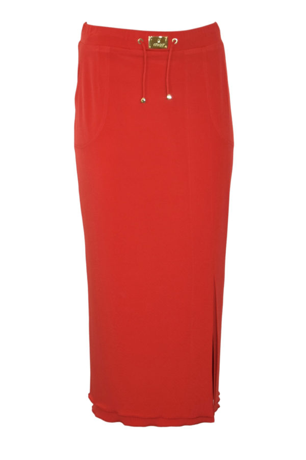 Maxi skirt with LMC logo