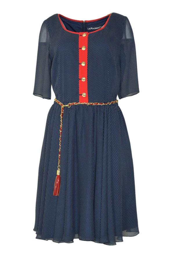 Dress St. Tropez navy white-red
