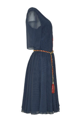 Dress St. Tropez navy white-red