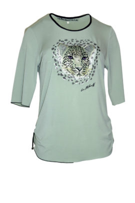 Couture-Shirt mit animal-embroidery