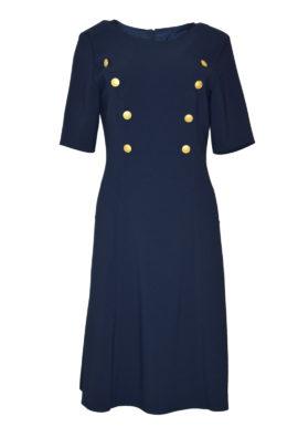 Kleid Georgette mit 6 Zierknöpfen