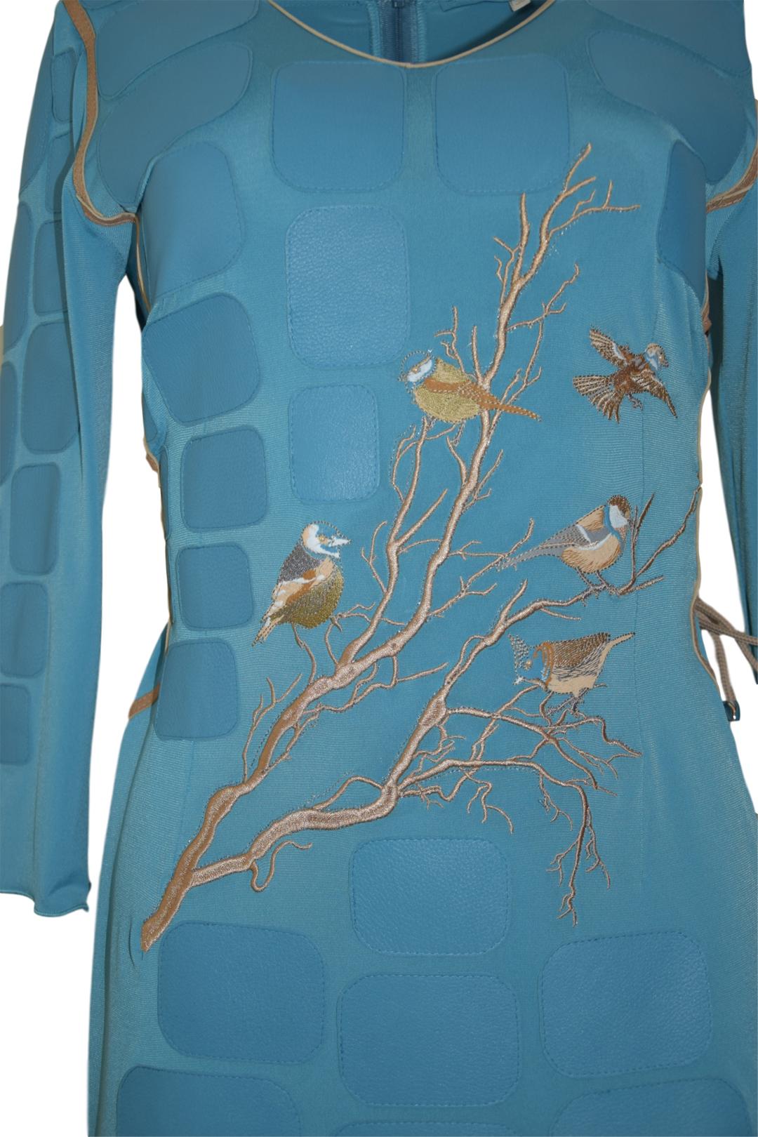 Kleid Winter Birds