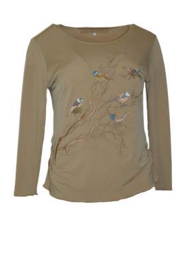 Shirt Winter Birds Langarm