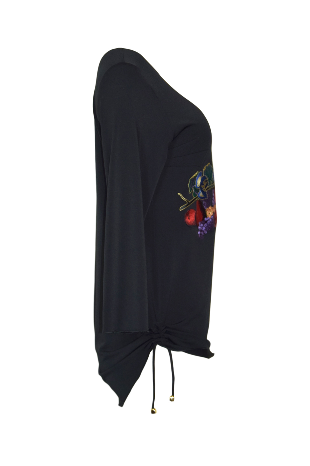 Shirt mit multicolor Still-Life-embroidery