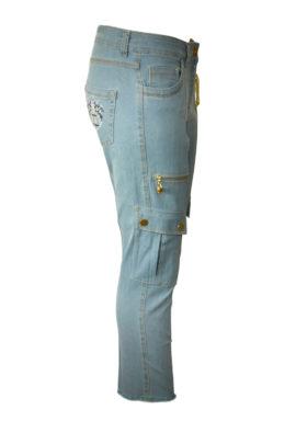 Cargo-Jeans Goldkette 7/8 Länge