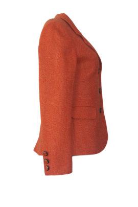 Blazer orange Merino-Kaschmir