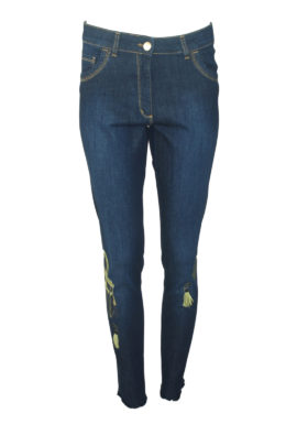 Jeans dark navy mit Classic Bag embroidery