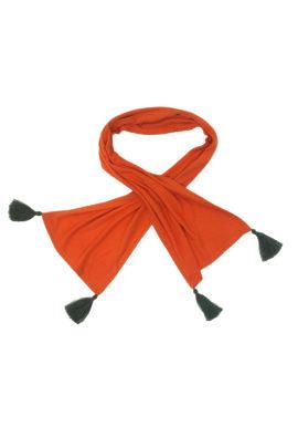 Schal mit 4 handgemachten Quasten