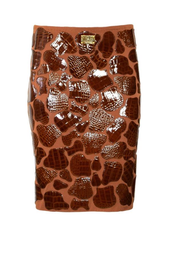 Krokorock cognac mit Animal Patches