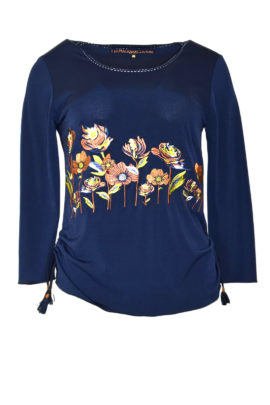 Shirt mit Autumn Meadow -embroidery LA